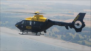 Suffolk Police helicopter