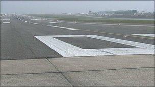 Guernsey Airport's runway