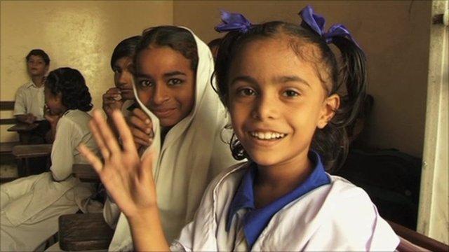 Students at Karachi's Aml-e-Danish School