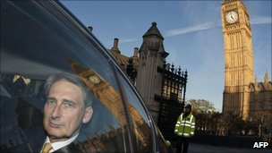 Philip Hammond leaving Parliament on 18 October 2011