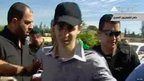 Gilad Shalit being escorted in Egypt (18 October 2011)