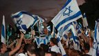 Israelis celebrate return of Sgt Maj Gilad Shalit, in his hometown of Mitzpe Hila - 18 October 2011