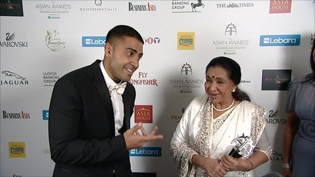 Singers Jay Sean and Asha Bhosle