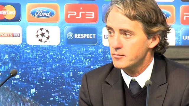 Manchester City's Roberto Mancini