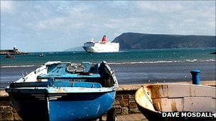 Ferry arriving at Fishguard