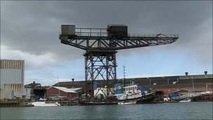 The 'Hammerhead' crane at Cowes, Isle of Wight