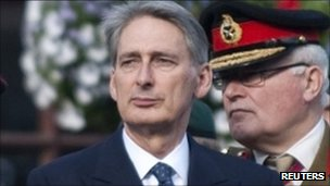 Philip Hammond and Chief of General Staff General Sir Peter Wall