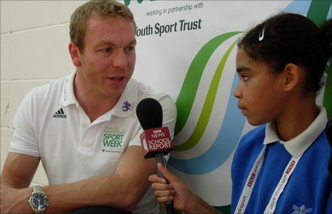 Sir Chris Hoy talks to a School Reporter