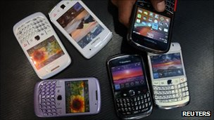 Blackberry smartphones