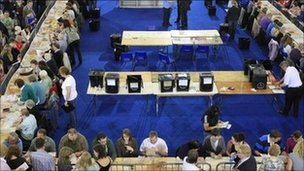 counting at ni assembly election 2011