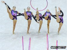 British team at the 2010 Rhythmic Gymnastics World Championships in Moscow