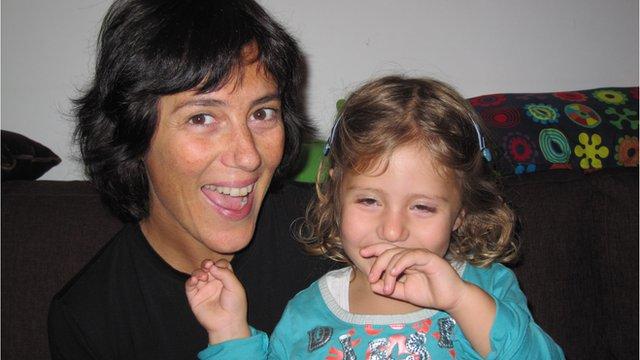 Paola Mastroberarbino and baby Mia