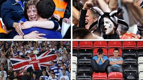 Birmingham, Swansea, QPR and West Ham fans experienced either relegation or promotion last season