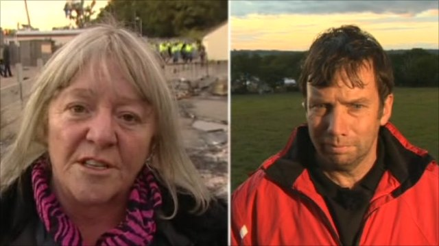 Kathleen McCarthy, a a traveller and Len Gridley, a local resident whose garden backs on to the Dale Farm site