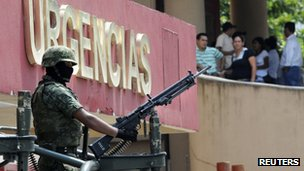 A Mexican soldier in Veracruz on 8 October 2011