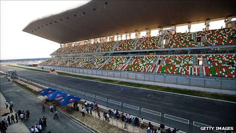 The new F1 track near Delhi