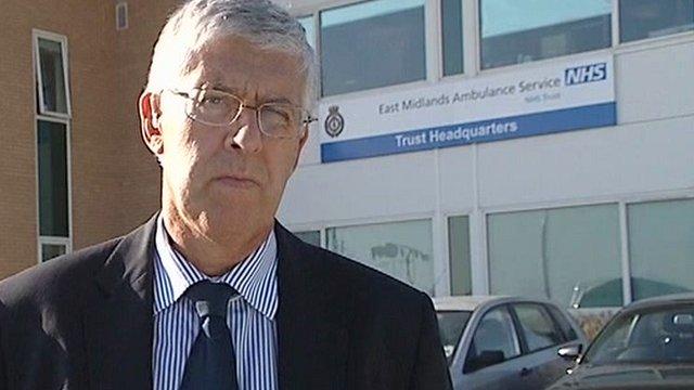 Brian Brewster, director of finance, for East Midlands Ambulance Service