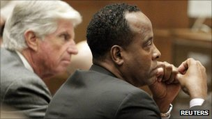 Dr Conrad Murray in court in LA on 19 October 2011