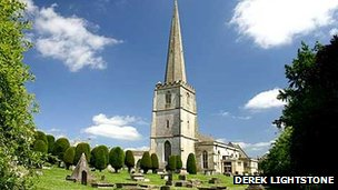St Mary's Church at Painswick (Photo: Derek Lightstone)