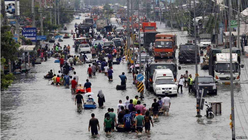 Bbc news in pictures bangkok flooding
