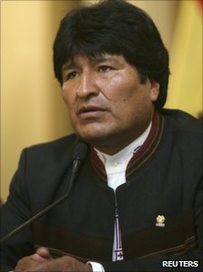 Evo Morales in photo from 16 October