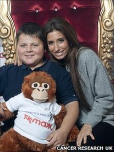 Harry Moseley with X Factor finalist Stacey Soloman