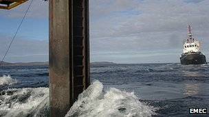 Tidal test site in Orkney