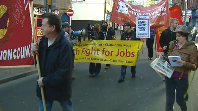 Protest against job cuts