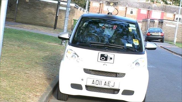 bbc news peterborough gets smart car to beat parking cheats. Black Bedroom Furniture Sets. Home Design Ideas