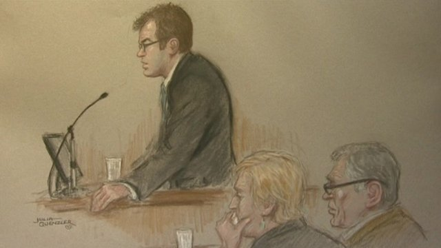 Court sketch of Vincent Tabak and Jo Yeates' parents