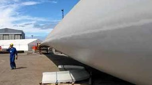 Offshore wind turbine blade at Nigg