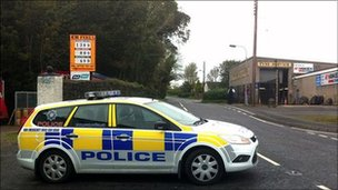 PSNI car at scene of alert