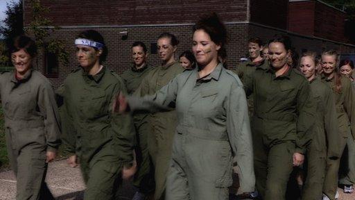 GB women's handball team train with the army