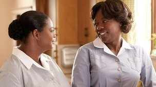 Viola Davis (right) with Octavia Spencer in The Help