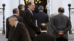 International negotiators arrive at San Sebastian on 17 October 2011