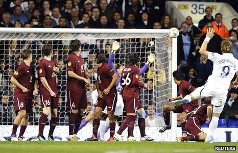 Roman Pavlyuchenko fires into the net