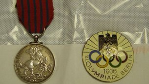 George Medal and Olympic badge