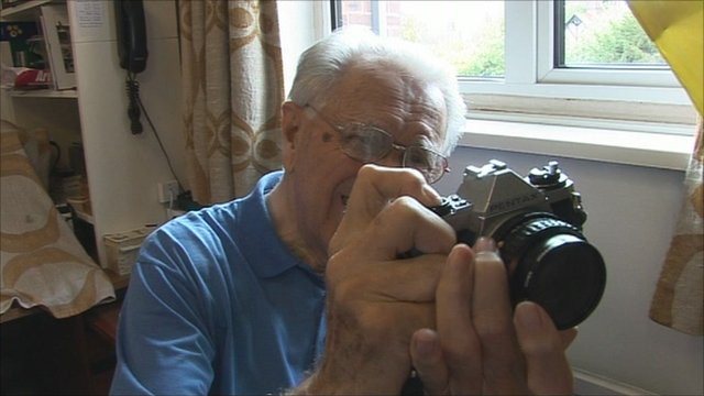 Mr Shott took up camera repairing as a hobby and now volunteers at Oxfam repairing donated equipment
