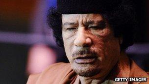 Muammar Gaddafi (file image)