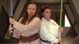 French and Saunders in their Phantom Menace spoof
