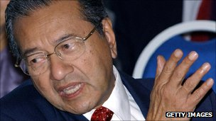 Former PM Mahathir Mohamad in 2003