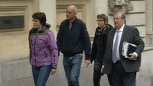 Vincent Tabak's family arriving at Bristol Crown Court
