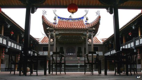 Restored theatre, Lin Family Mansion in Wufeng, Taiwan (14 June 2011)
