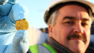 Richard Daniel, who is a railway controller from the Wigginton Road area of York, discovered a rare 14th Century gold coin whilst excavating a medieval rubbish pit at Hungate whilst on the site as a community archaeologist. Picture: York Archaeological Trust