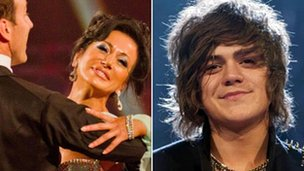 Strictly Come Dancing's Nancy Dell'Olio and X Factor's Frankie Cocozza