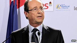 Francois Hollande, presidential candidate for the Socialist Party