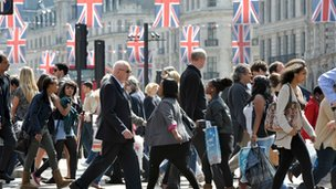 People walking in Regent Street, London