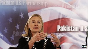 Hillary Clinton in Islamabad