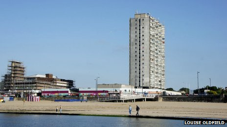 Margate seafront and Arlington House