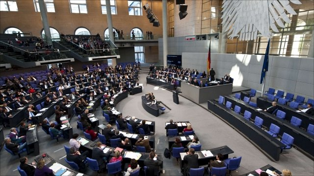 General view of a session of the Bundestag lower house of parliament
